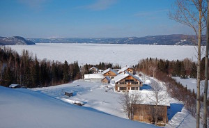 Ecovillage on winter